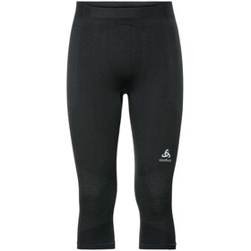Odlo Suw Performance Warm Pantaloni a 3/4 Uomo, black-odlo concrete grey